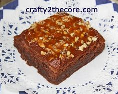~TURTLE BROWNIES GALORE~ Layered brownie, smothered with melted chocolate and drizzled with caramel and pecans~