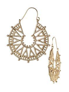 My 14kt. white gold, starburst, wheel  pierced earrings...