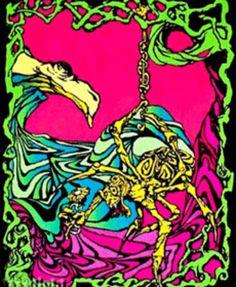 Spider Flower Black Light Poster, 23 in. Psychedelic Effects, Psychedelic Fashion, Psychedelic Art, Black Light Posters, Light Art, Poster Prints, Art Posters, Flocking, Art Forms