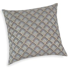 TRILOGIE embroidered blue cotton cushion cover 40 x 40 cm