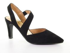 Slingbacks & Peeptoes - Di Lauro - Bayle Black Pump Slingbacks, Black Pumps, Heels, Fashion, Heel, Moda, Fashion Styles, Black Pumps Heels, High Heel