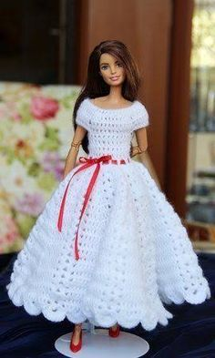 Resultado de imagem para crochet barbie doll clothes for beginners
