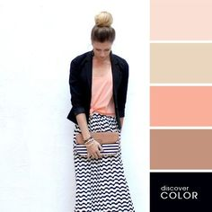 Color palette for outfits Colour Combinations Fashion, Color Combinations For Clothes, Fashion Colours, Colorful Fashion, Colour Pallete, Colour Schemes, Color Combos, Jean Délavé, Color Balance