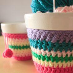 Maceta Con Funda Tejida Crochet Nº10 - $ 70,00 en MercadoLibre
