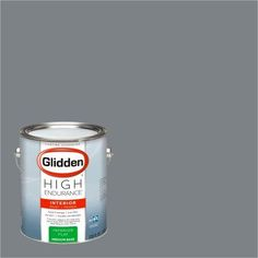 Glidden High Endurance, Interior Paint and Primer, Flagstone Grey, #50BG 22/030, Flat, 1 Gallon, Gray