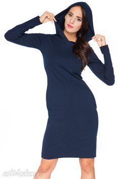 Sukienka A_3 z kapturem - RaWeaR. $39