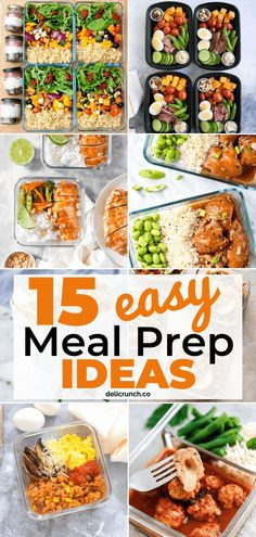 , 15 meal prep ideas that are easy, healthy and on a budget! These clean-eating recipes are time-savers and can help you on your weight loss program. , 15 Easy Meal Prep Ideas That Will Save You Tons of Time and Money Healthy Recipes On A Budget, Easy Healthy Dinners, Budget Meals, Healthy Drinks, Healthy Food, Healthy Meal Options, Lunch On A Budget, Healthy Protein, Eating Healthy