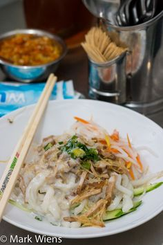 If you love coconut milk, try Vietnamese bánh tằm bì - thick noodles smothered in herbs and sweet coconut milk!
