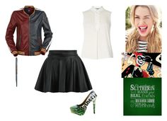 """""""Harley Quinn - Slytherin"""" by ilovecats-886 ❤ liked on Polyvore featuring Dorothy Perkins"""