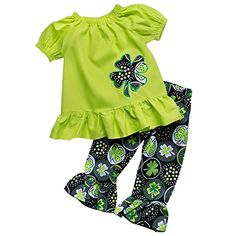 9c20baa6a47c online shopping for So Sydney Girls Lucky Girl Green Shamrock ST. Patrick s  Day 2 Pc Boutique Outfit from top store. See new offer for So Sydney Girls  Lucky ...