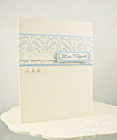 Faux Letterpress Wedding Card - Vintage Page Designs