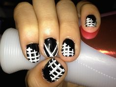 black and white nail art 70 Seductive Nail Designs
