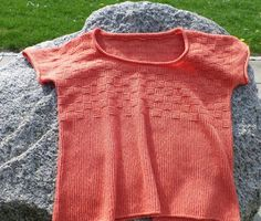 Easy Stitch, Summer Tops, Knitting Patterns, Knit Crochet, Turtle Neck, Pullover, Tees, Casual, How To Make