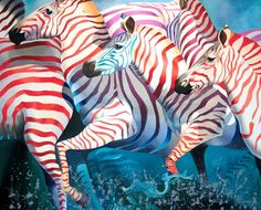 Buy Best Wishes 1, a Oil on Canvas by Tatyana Binovska from South Africa. It portrays: Animal, relevant to: wishes, zebras, africa, animals, happines, love From Ah Africa series  ORIGINAL IS IN UKRAINE  Year Created: 2006