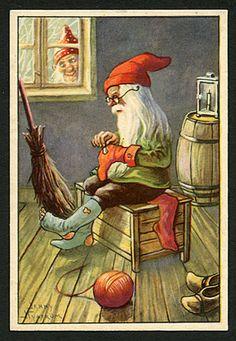 Julkort av Jenny Nyström. Stämplat 1940.