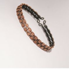 Mens Cuff Bracelet Bracelet For Men Mens Copper Bracelet | Etsy Copper Wire Jewelry, Copper Bracelet, Antique Bracelets, Bracelets For Men, Wire Bracelets, Copper Anniversary Gifts, Happy Anniversary, Wire Wrapped Bangles, Bracelet Crafts