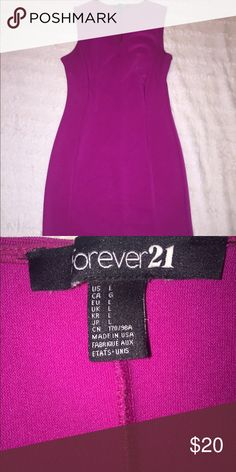 Forever 21 Dress Hi! I am selling one of my favorite dresses. Pink forever 21 dress Large, Stretchy shows Cleavage. Fits really nice. Great Condition! Forever 21 Dresses Mini