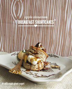 apple cinnamon breakfast shortcakes