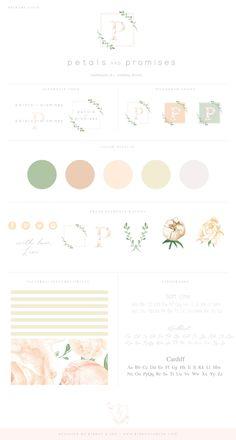 Brand board / branding / brand design / custom logo / photographer brand / photographer logo / color palette / logo design / florist logo
