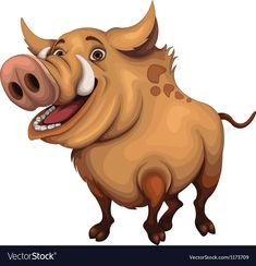 """Here's a Boar mascot for you awesome project. Main file contains: """"fully editable"""" AI And additional files: EPS (fully editable) ,PNG, JPG. Includes: FOLDER: """"Boar – JPG"""" C. Animal Sketches, Animal Drawings, Cartoon Drawings, Cartoon Art, Chien Springer, Safari, Wild Boar, Funny Animal Videos, Cute Gif"""