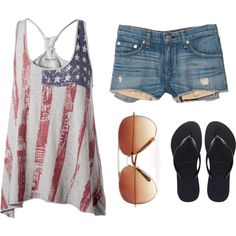 YES! This is ME! Got my short shorts, American flag, aviators, and black! PERFECT