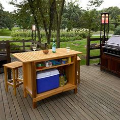 Free Outdoor Wet Bar Plans