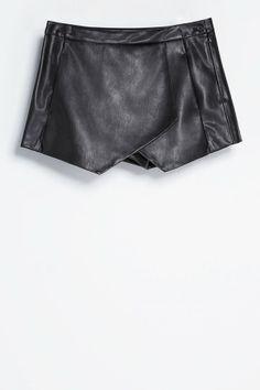 Zara Faux Leather Skort, £29.99