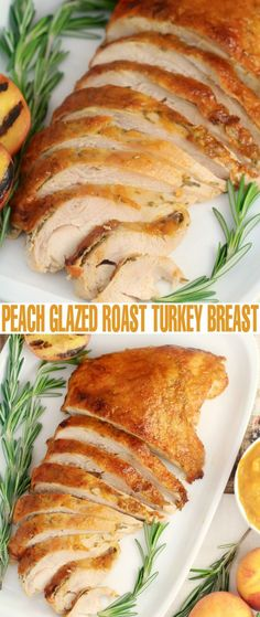Puree Peaches in a small.anount with apple cider and add Seasoning in thick paste and add to butter and top bacon on top for moisture-to glaze turkey-Add lemon juice,thyme,parsley,jalapenos,and sage for.marinade-Peach-Glazed-RoastTurkey-Breast