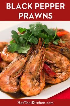 When you have fantastic seafood, this is the best way to cook them. A flavourful sauce that still allows the flavour of the prawns to shine. A classic way to prepare seafood in Thailand! #blackpepper #thairecipe #prawns Prawn Recipes, Fish Recipes, Seafood Recipes, Thai Recipes, Laos Recipes, Healthy Recipes, Healthy Meals, Healthy Food, Yummy Food