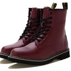 British Style Men's Combat Boots with Lace-Up