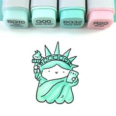 drawing - architecture and art - kunst Copic Marker Drawings, Marker Art, Doodle Drawings, Easy Drawings, Doodle Art, Drawing With Markers, Cute Kawaii Drawings, Kawaii Doodles, Cute Doodles