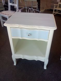 Hand Painted French Provincial Nightstand