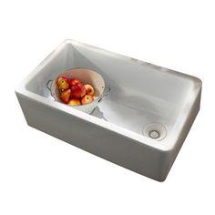 Porcher London Apron Front Sink 35030WH White