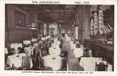 Lüchow's Famous Restaurant 70th Anniversary (1882-1952), 110-112 E 14th St, New York City