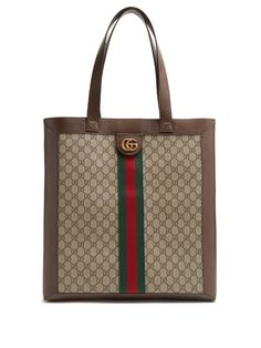 80c3e7b46d8a GUCCI Ophidia GG Supreme canvas and leather tote.  gucci  bags  hand bags