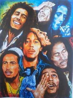 Bob Marley, montage of expressions.