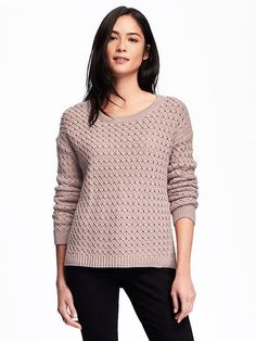 a9d1d862914 Hi-Lo Honeycomb-Stitch Pullover for Women