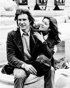 """Carrie Fisher and Harrison Ford, New York, March 1979 "" Debbie Reynolds Carrie Fisher, Carrie Frances Fisher, Star Wars Cast, Han And Leia, Star Wars Pictures, Frank Zappa, Harrison Ford, Indiana Jones, Princess Leia"