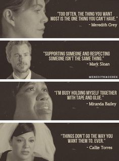 Most popular tags for this image include: grey's anatomy, quote, mark sloan, meredith grey and callie torres