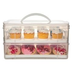 36 Cupcake Carrier Cupcake Courier Cupcake Caddy  Holds 36 Cupcakes  Whi  Pinterest