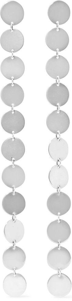 Paillettes Silver Earrings - one size Saskia Diez s3TmRwGU
