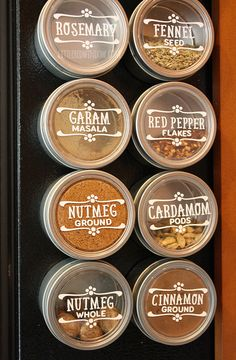 DIY Spice Jar Labels | littleredwindow.com | Make your own custom labels quickly and easily with vinyl!