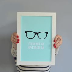 Win our geek glasses 'I Think You're Spectacular' print and 2 of our best selling keepsake cards in our new giveaway! Competition is open to everyone n easy to enter :) good luck! Geek Glasses, New Print, Pretty Pictures, Stationery, Geek Stuff, Art Prints, Cards, Gifts, Inspiration