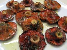 Red pine mushrooms, traditiona Autumn food in Catalonia