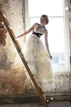 happy #ww all! check out this amazing, hand made #wedding dress! <3<3<3!