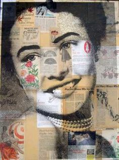 Creative Sketchbook: A Forgotten History! with Michelle Caplan Collage Portrait, Portraits, Collage Art, Heart Collage, Collages, Mixed Media Photography, Art Photography, Photocollage, Identity Art