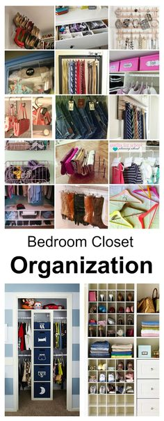 Bedroom Closet Organization Ideas is part of Organization Bedroom Money - Sharing some Bedroom Closet Organization Ideas to get you motivated and inspired to get your day off on a great start Organisation Hacks, Clutter Organization, Laundry Room Organization, Laundry Rooms, Master Closet, Closet Bedroom, Bedroom Storage, Closet Storage, Bathroom Closet