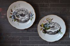 Duo of Donuts Upcycled Vintage China Teacup by bostoninachinashop