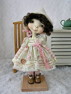 Handmade Romantic outfit for Connie Lowe Sprocket, Sprockets, made by Ulla