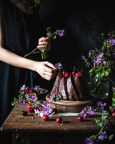 New recipe on my blog ���� chocolate cream cheese bundt cake with cherries! ����  Recipe @sallysbakeblog  .  .  .    #hautecuisines #beautifulcuisines #handsinframe #cookmagazine #vzcomade #thebakefeed #thefeedfeed #thefeedfeed_chocolate #holdthemoments #theartofslowliving #stilllifegallery #storyofmytable #lifeandthyme #verilymoment #tv_living #artofvisual #thatsdarling #darlingweek #fellowmag #feelfreefeed #folkgood #nordicware #globyfood #food4igers #foodditaly #chocoholic #thefoodspotter